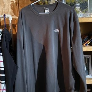 North Face Charcoal Long Sleeve XXL